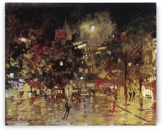 Paris Night View by Constantin Korovin