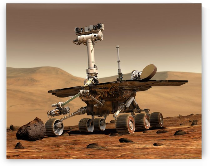 Artists Rendition of Mars Rover. by StocktrekImages