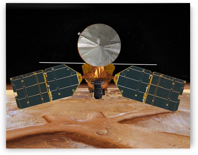 Artists concept of the Mars Reconnaissance Orbiter. by StocktrekImages