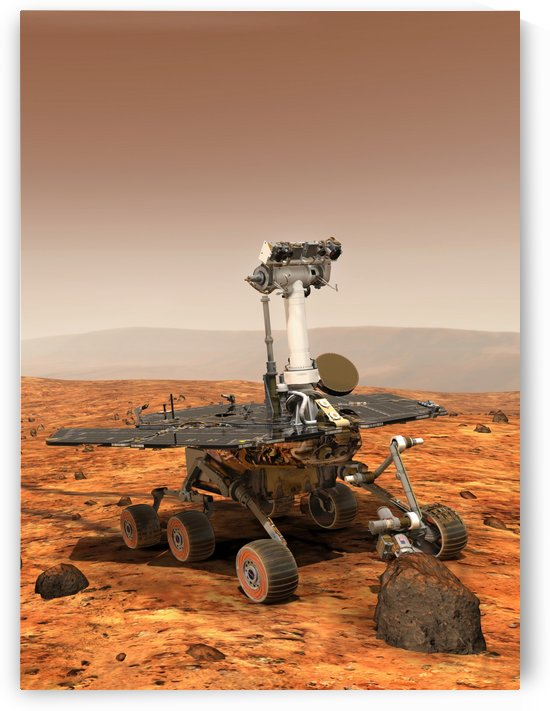 Artists rendition of Mars Rover by StocktrekImages