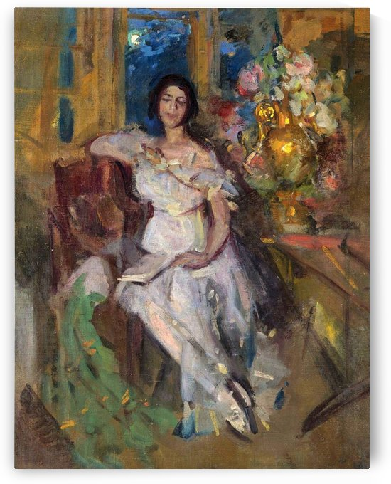 Portrait of a Seated Lady by Constantin Korovin