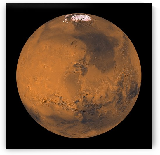 Global Color View of Mars. by StocktrekImages