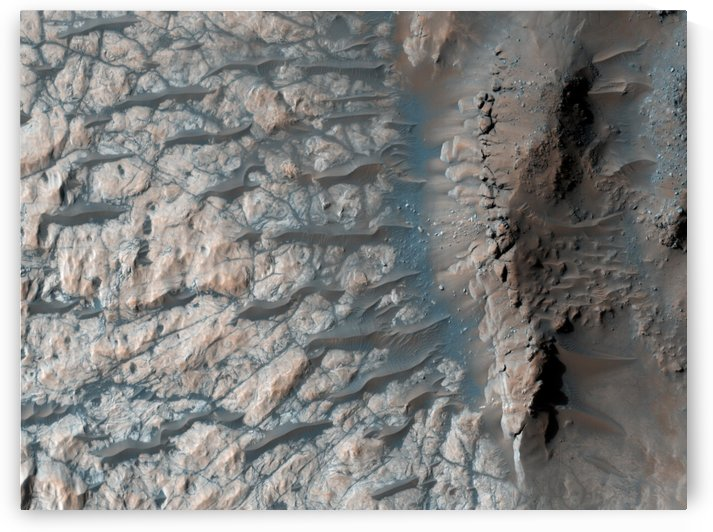 Part of the floor of a large impact crater in the southern highlands on Mars. by StocktrekImages