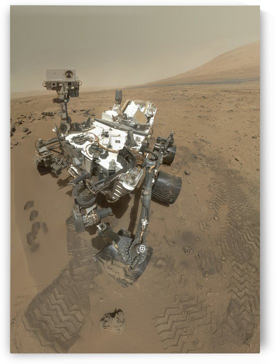 Self-portrait of Curiosity rover in Gale Crater on the surface of Mars. by StocktrekImages