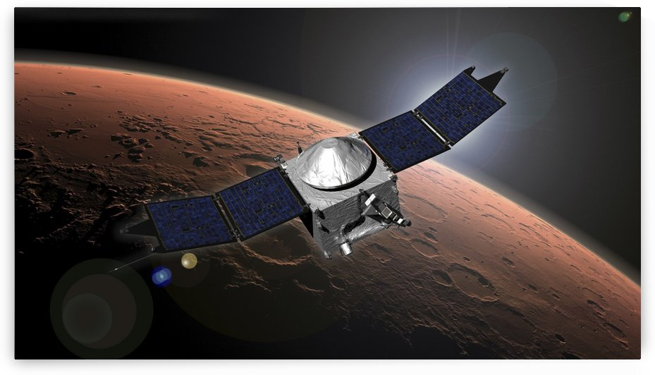 Artist concept of NASAs Mars Atmosphere and Volatile Evolution mission. by StocktrekImages