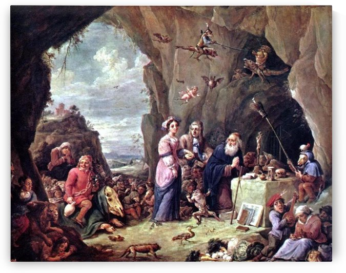 The Rich Man being led to Hell by David Teniers the Younger