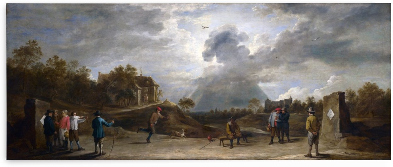 Peasants at Archery by David Teniers the Younger