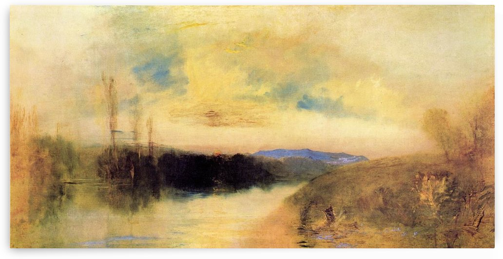 Evening landscape by Joseph Mallord Turner by Joseph Mallord Turner
