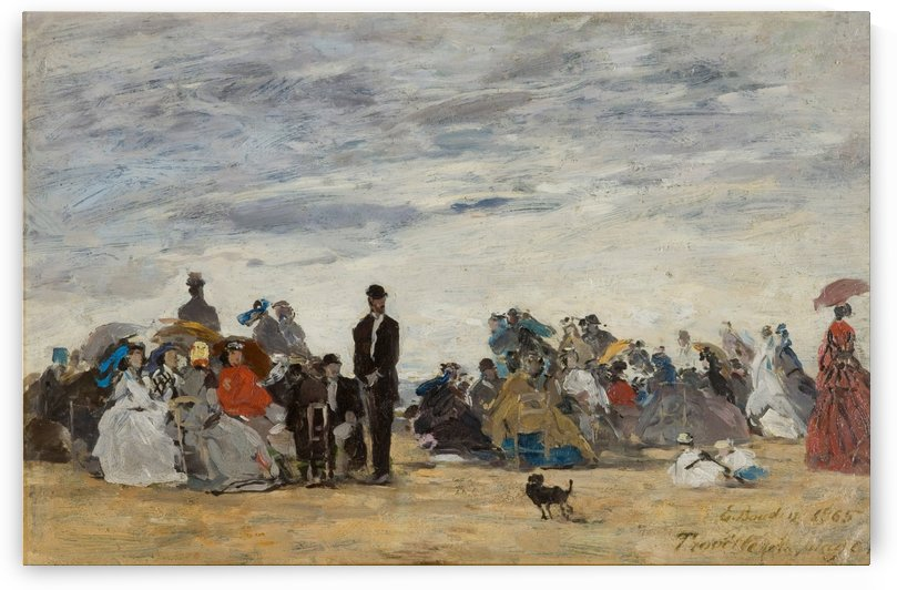 Trouville, the Nanny by Eugene Boudin