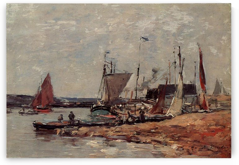 Trouville, the Port (2) by Eugene Boudin