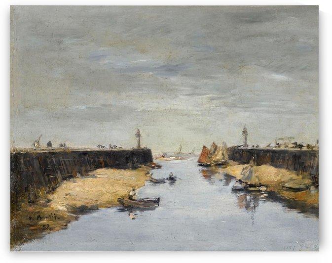 Venice, the Vessel near the Landing-Stage. Canal de la Giudecca by Eugene Boudin