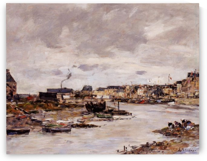 The Port of Trouville by Eugene Boudin