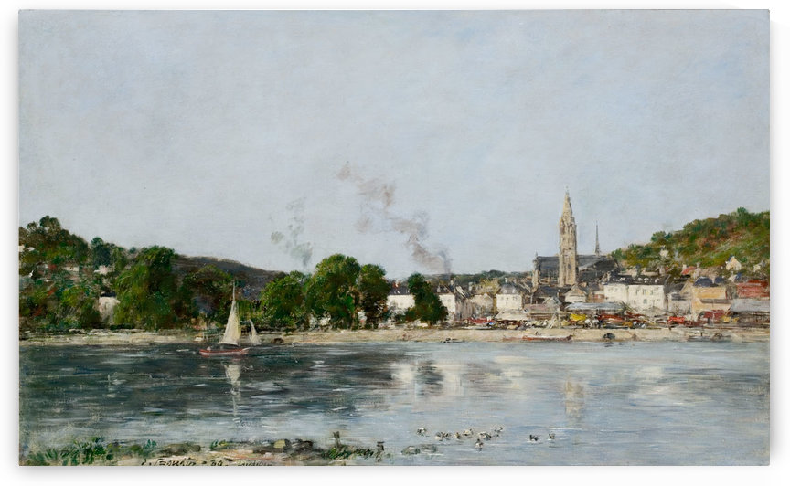 Caudebec-en-Caux, the Banks of the Seine by Eugene Boudin