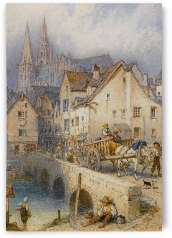 Chartres by Eugene Boudin