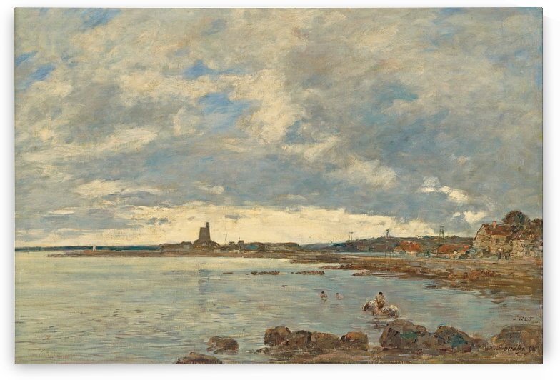 Seascape at St. Vaast - La Hougue by Eugene Boudin