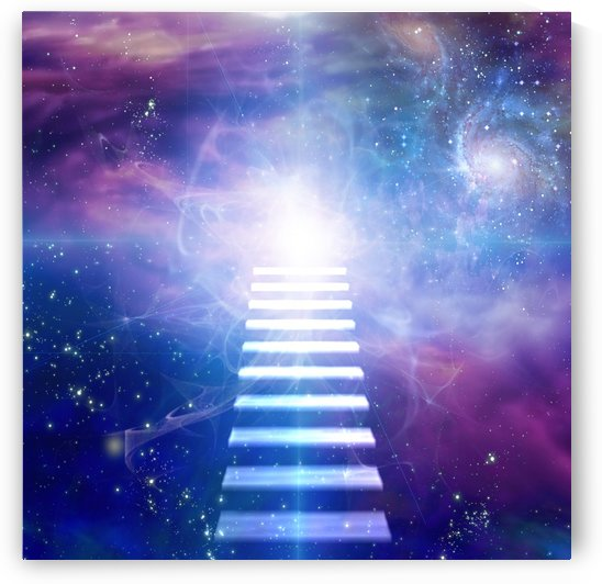 Steps up into cosmos by Bruce Rolff