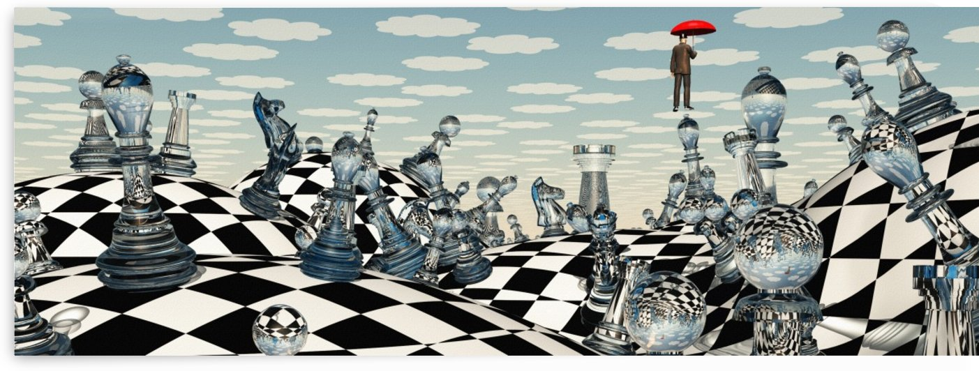 Surreal Chess Landscape by Bruce Rolff