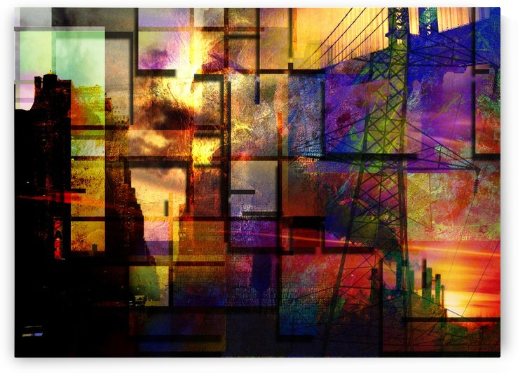 City Industrial Abstract by Bruce Rolff