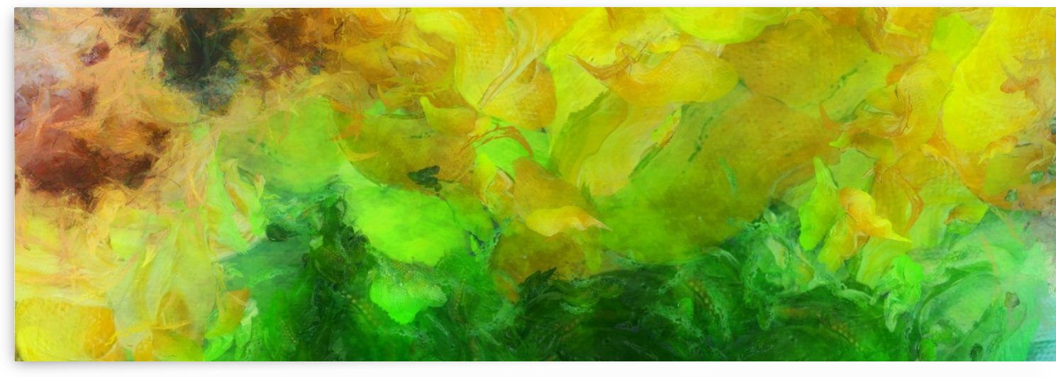Yellow - Green Canvas by Bruce Rolff