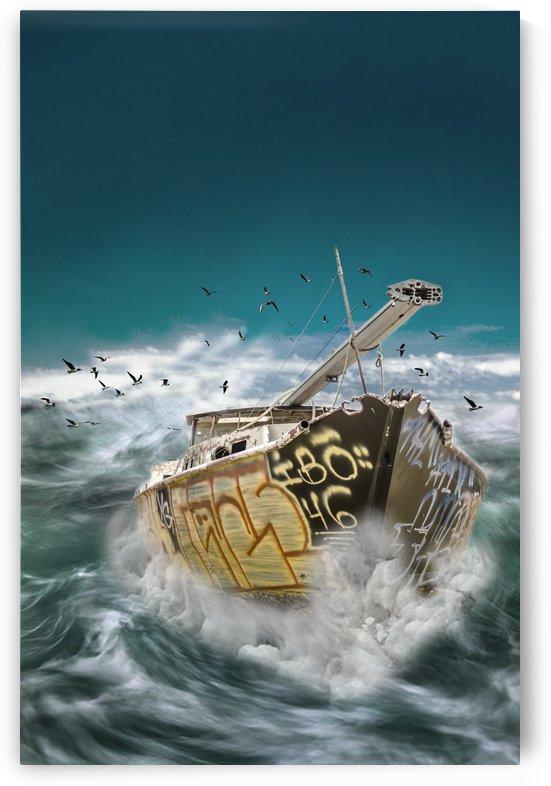 Sailing in a Strom by Vlad Kochanzhi
