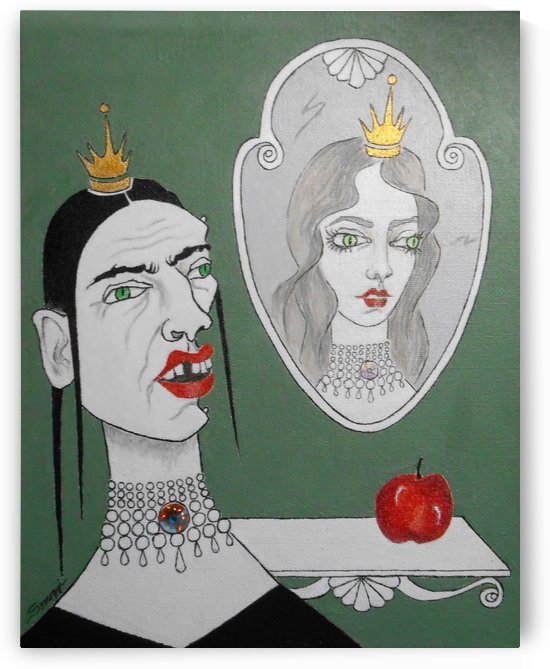 A Queen Her Mirror and an Apple   by Jayne Somogy