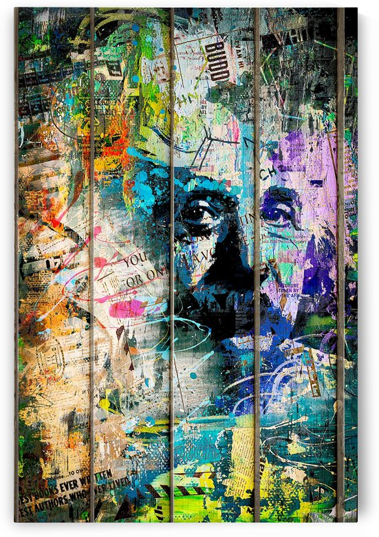 Artistic I - Albert Einstein I by Art Design Works