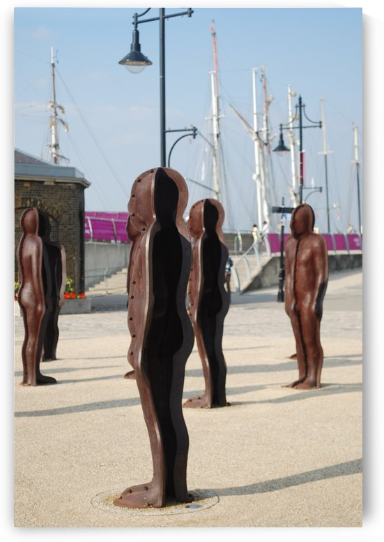 Woolwich statues  by Sara Jennings