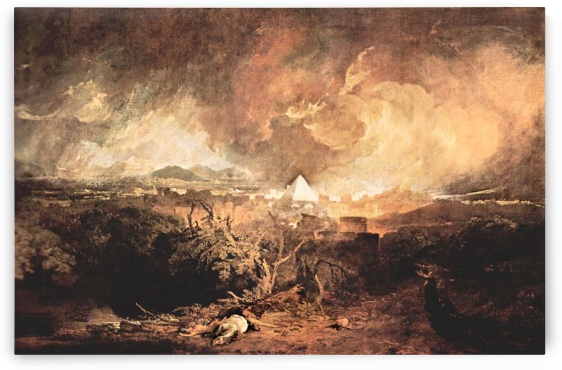 Fifth plague of Egypt by Joseph Mallord Turner by Joseph Mallord Turner