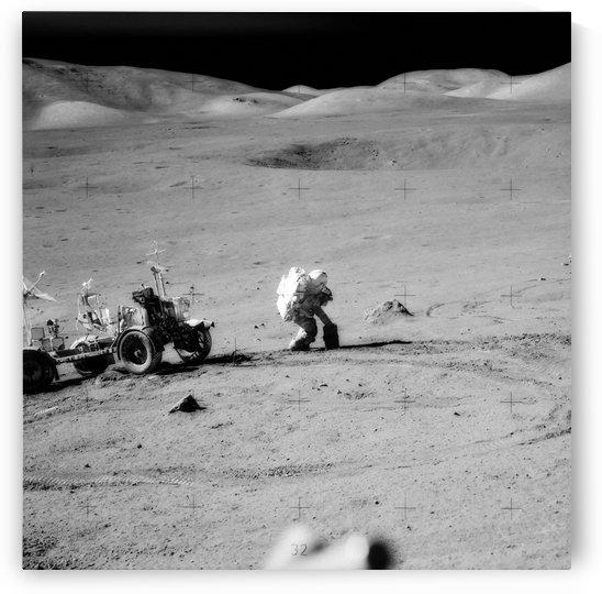 Apollo 17 moonwalk. by StocktrekImages