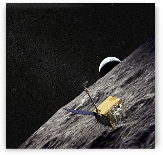 Artist Concept of the Lunar Reconnaissance Orbiter. by StocktrekImages