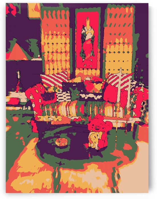 The Striped Sofa -- Red & Gold by Jayne Somogy