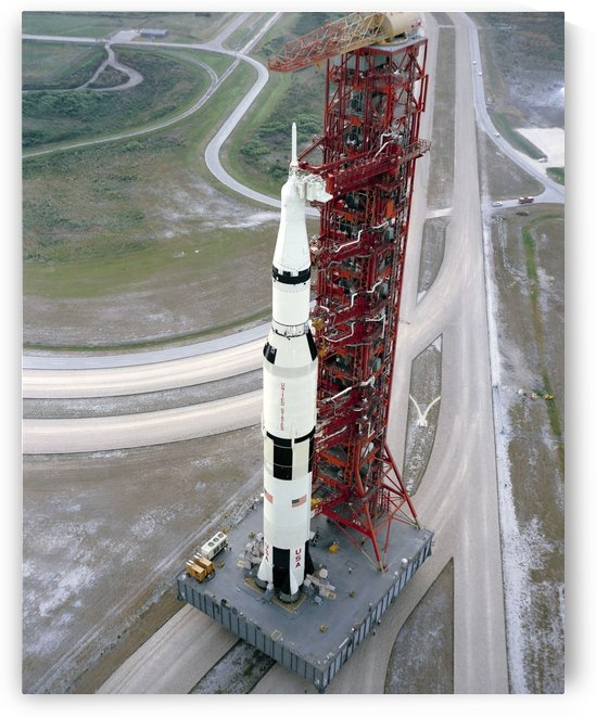 High angle view  of the Apollo 15 space vehicle. by StocktrekImages