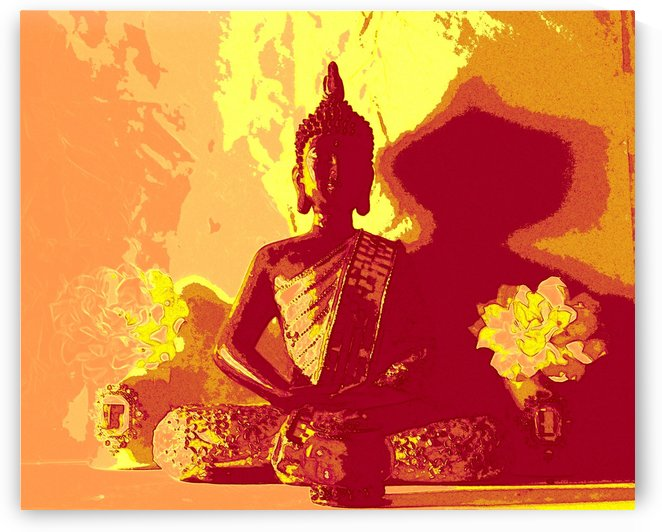 Buddha Altar -- Fire Colors by Jayne Somogy