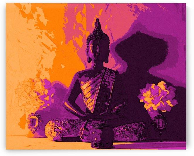 Buddha Altar -- Sunset Colors by Jayne Somogy