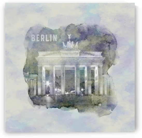 BERLIN Brandenburg Gate | jazzy watercolor by Melanie Viola