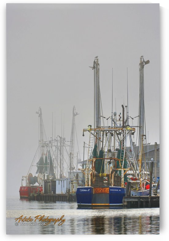 Trawlers in Fog - APC-239 by Artistic Photography