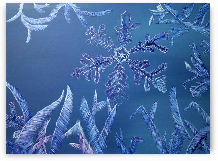 Frosty Window by Valentyna Pylypenko