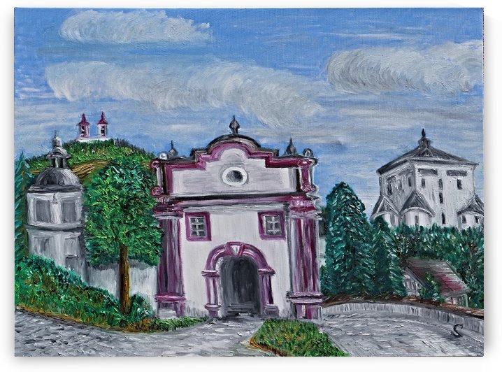 Banska Stiavnica Original City Gate Central Slovakia by Tomas Strelinger by Edwin John