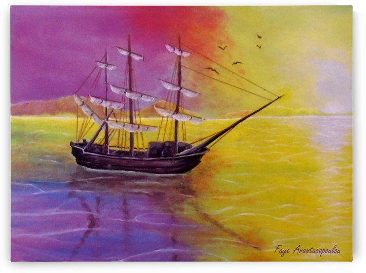 Sunset Sail by Faye Anastasopoulou
