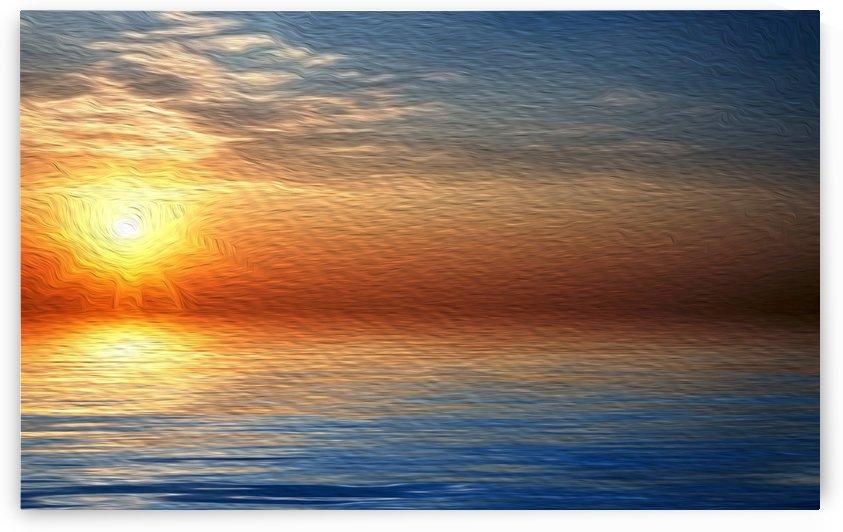 Ocean Sunset by A WYN CHANCE