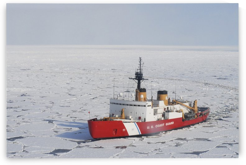 USCGC Polar Sea conducts a research expedition in the Beaufort Sea. by StocktrekImages