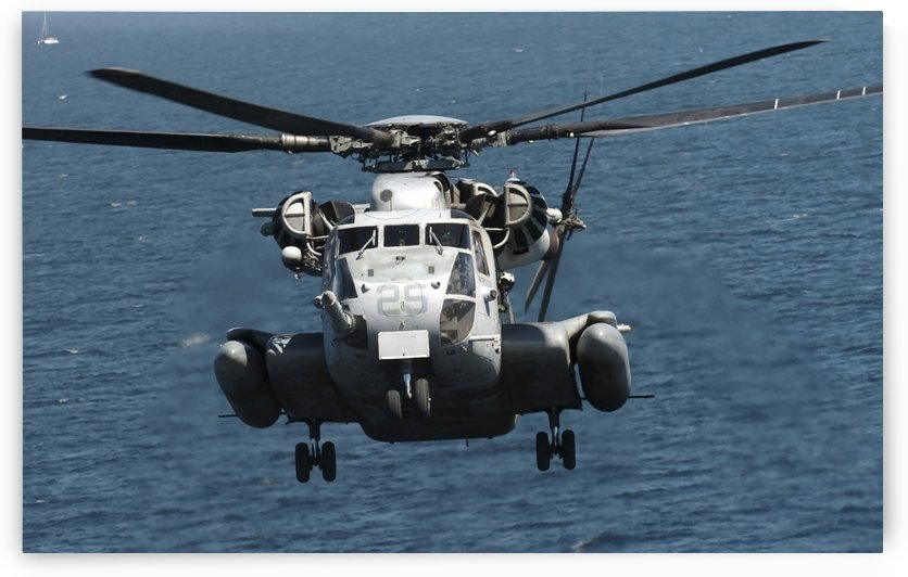 A U.S. Marine Corps CH-53E Super Stallion helicopter. by StocktrekImages