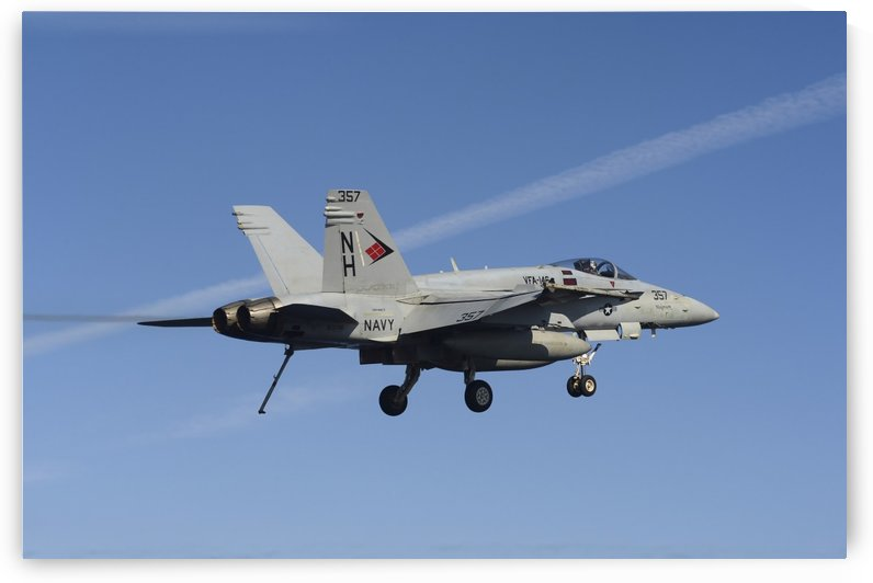 An F-A-18C Hornet in flight. by StocktrekImages