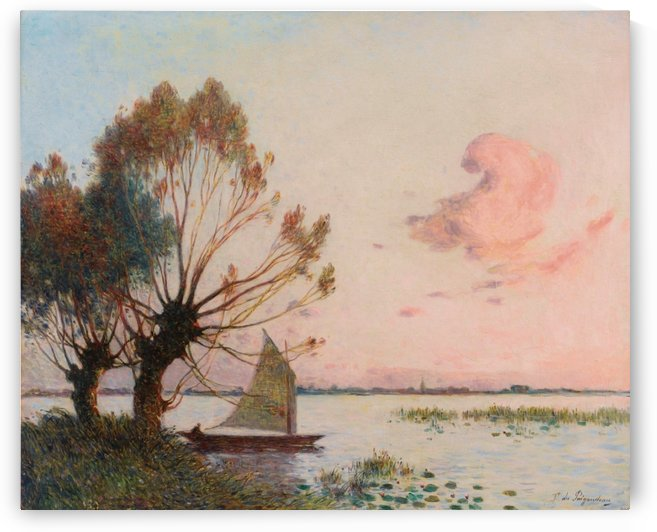 Sailer at Marais de la Grande Briere by Ferdinand du Puigaudeau