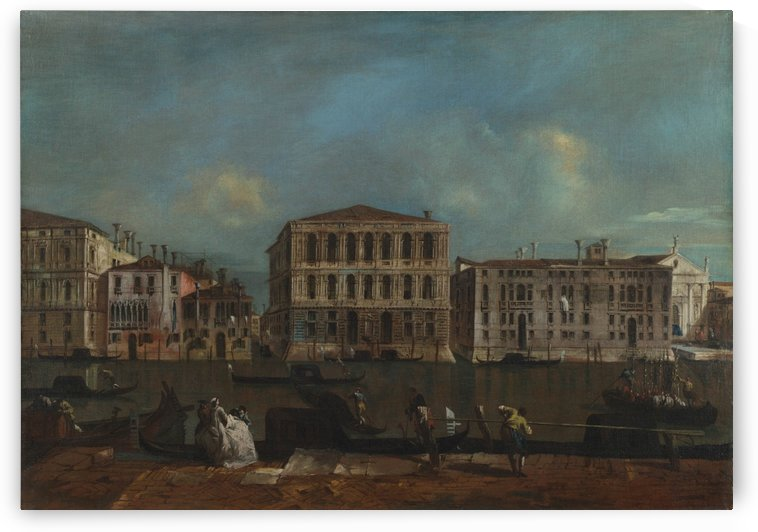 The Grand Canal with Palazzo Pesaro by Francesco Guardi