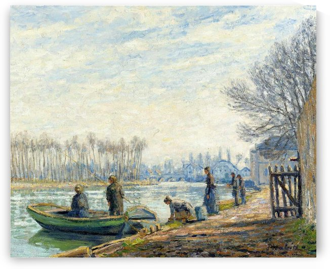 Fishermen at Moret-sur-Loing by Francis Picabia