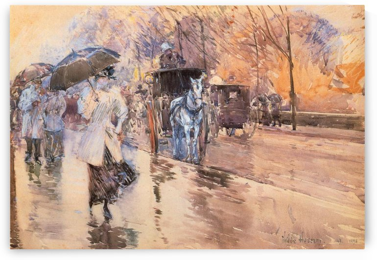 Rainy Day, New York by Frederick Childe Hassam