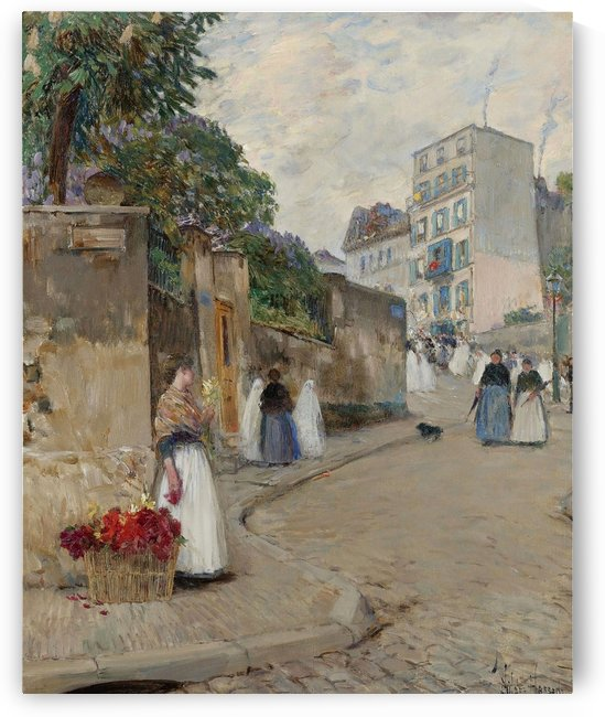 The Street of Montmartre, Paris by Frederick Childe Hassam