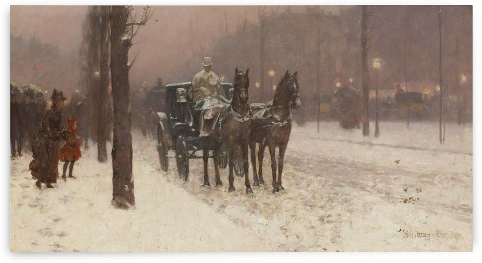 Paris, Winter Day by Frederick Childe Hassam