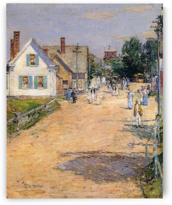 Street in Gloucester by Frederick Childe Hassam